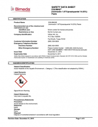 Equimax Safety Data Sheet