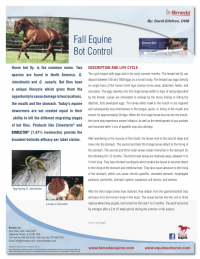 Fall Equine Bot Control