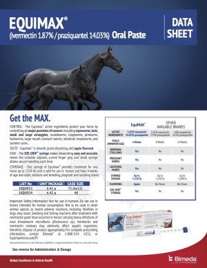 Equimax Product Information Sheet